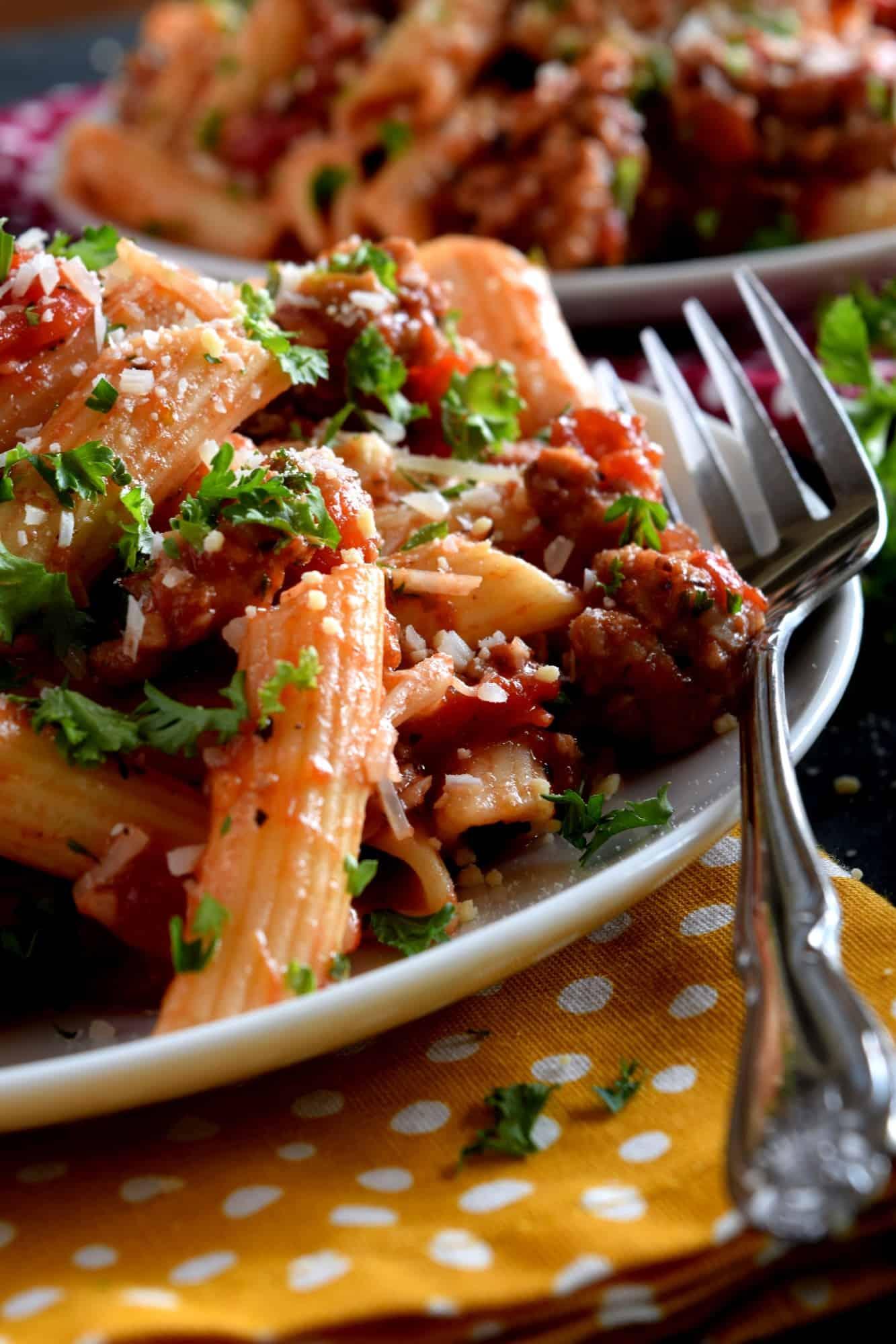Spicy Shrimp Pasta {Creamy Spgahetti Recipe!} - WellPlated.com  |Spicy Italian Spaghetti