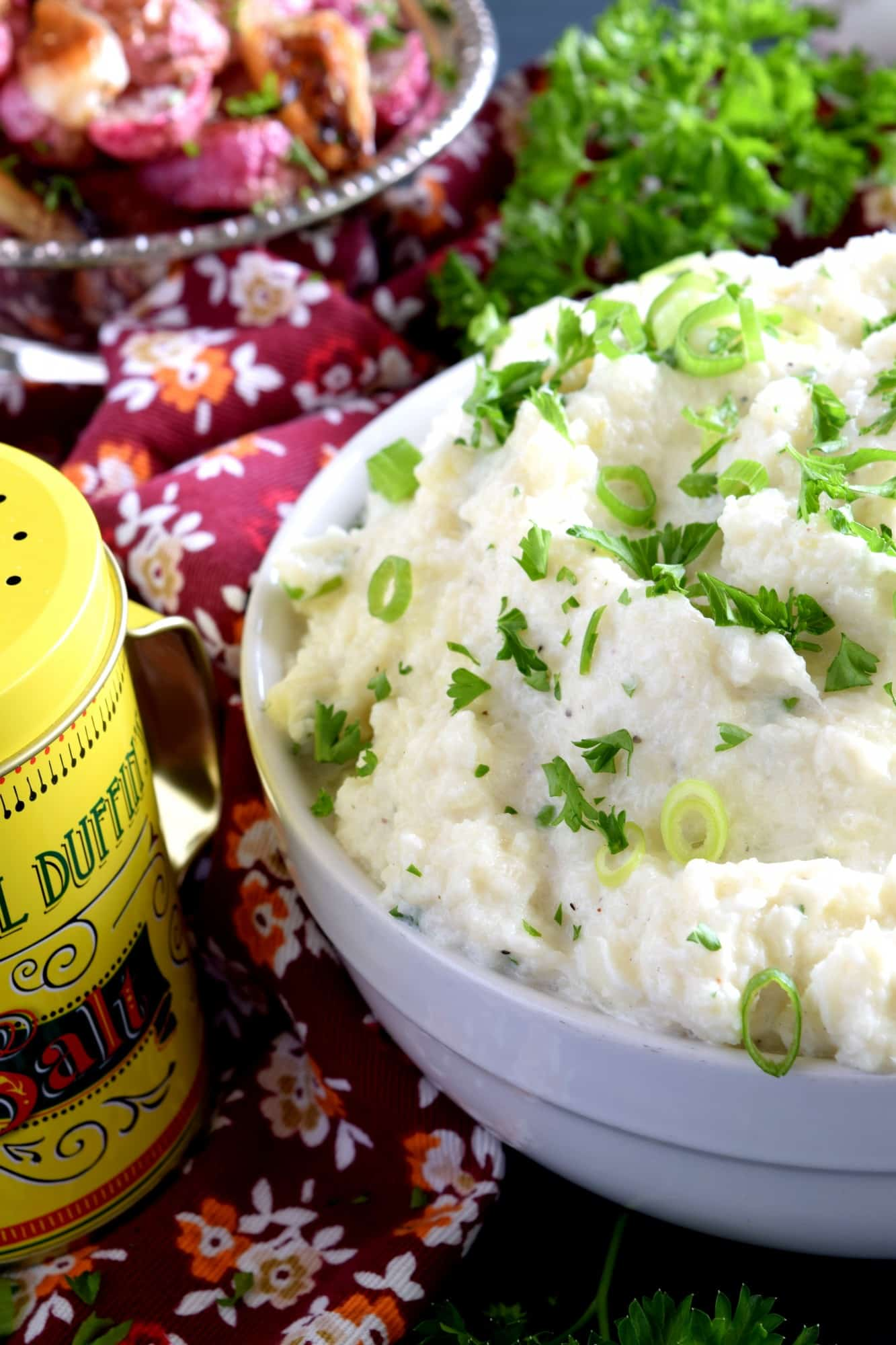 Mashed Cauliflower With Cream Cheese