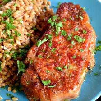 Baked Pork Loin Chops