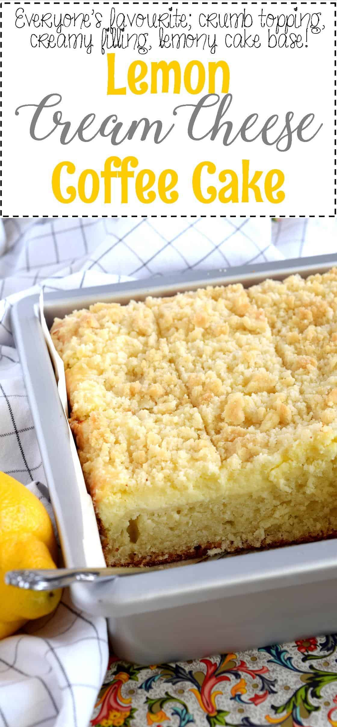 Lemon Cream Cheese Coffee Cake Lord Byron S Kitchen