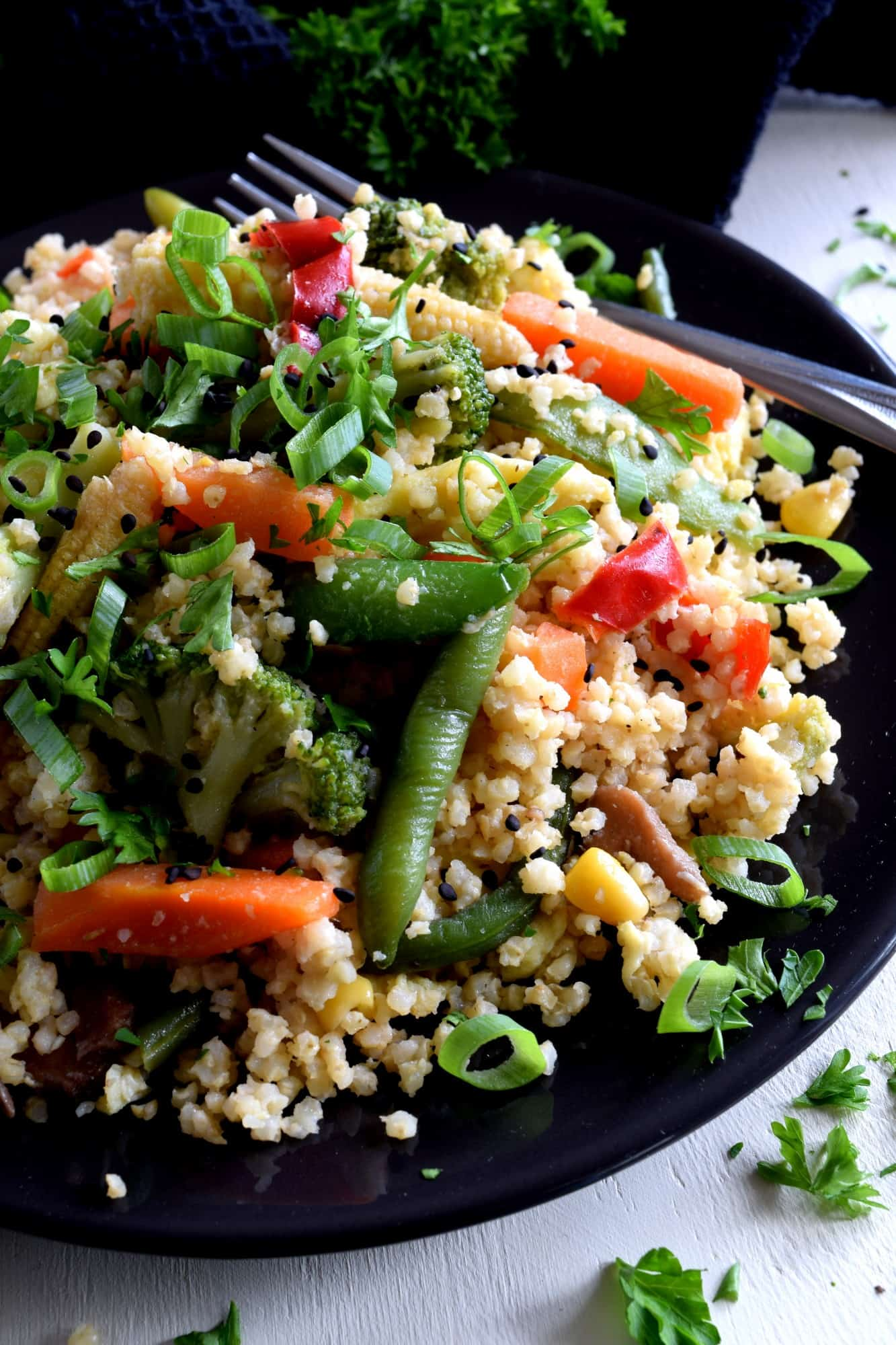 Vegetable Fried Millet