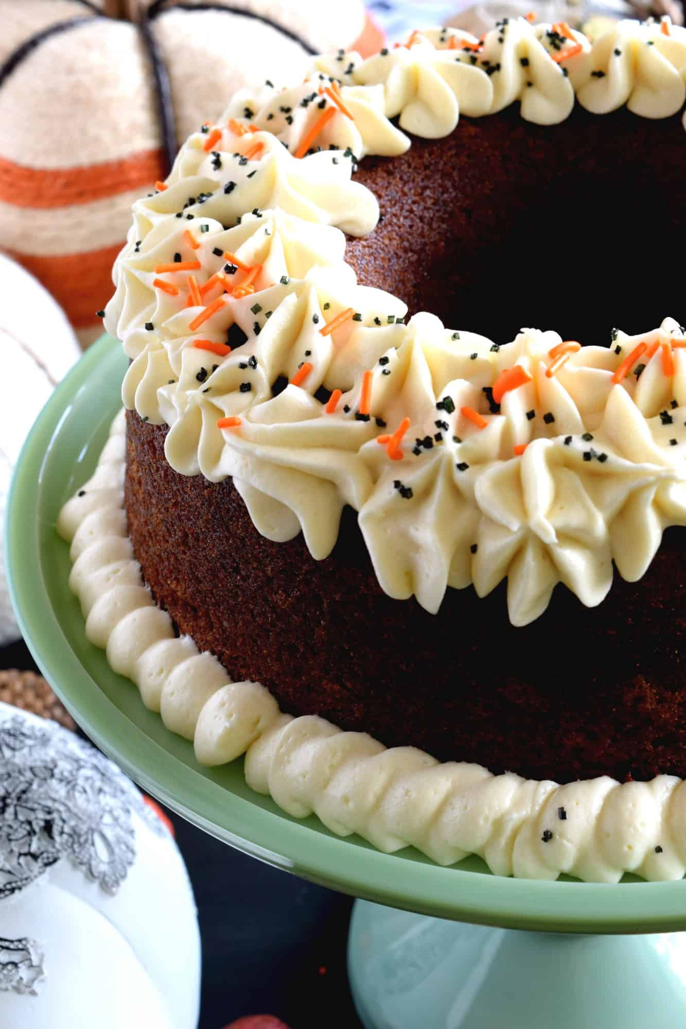 Frosted Pumpkin Puree Bundt Cake