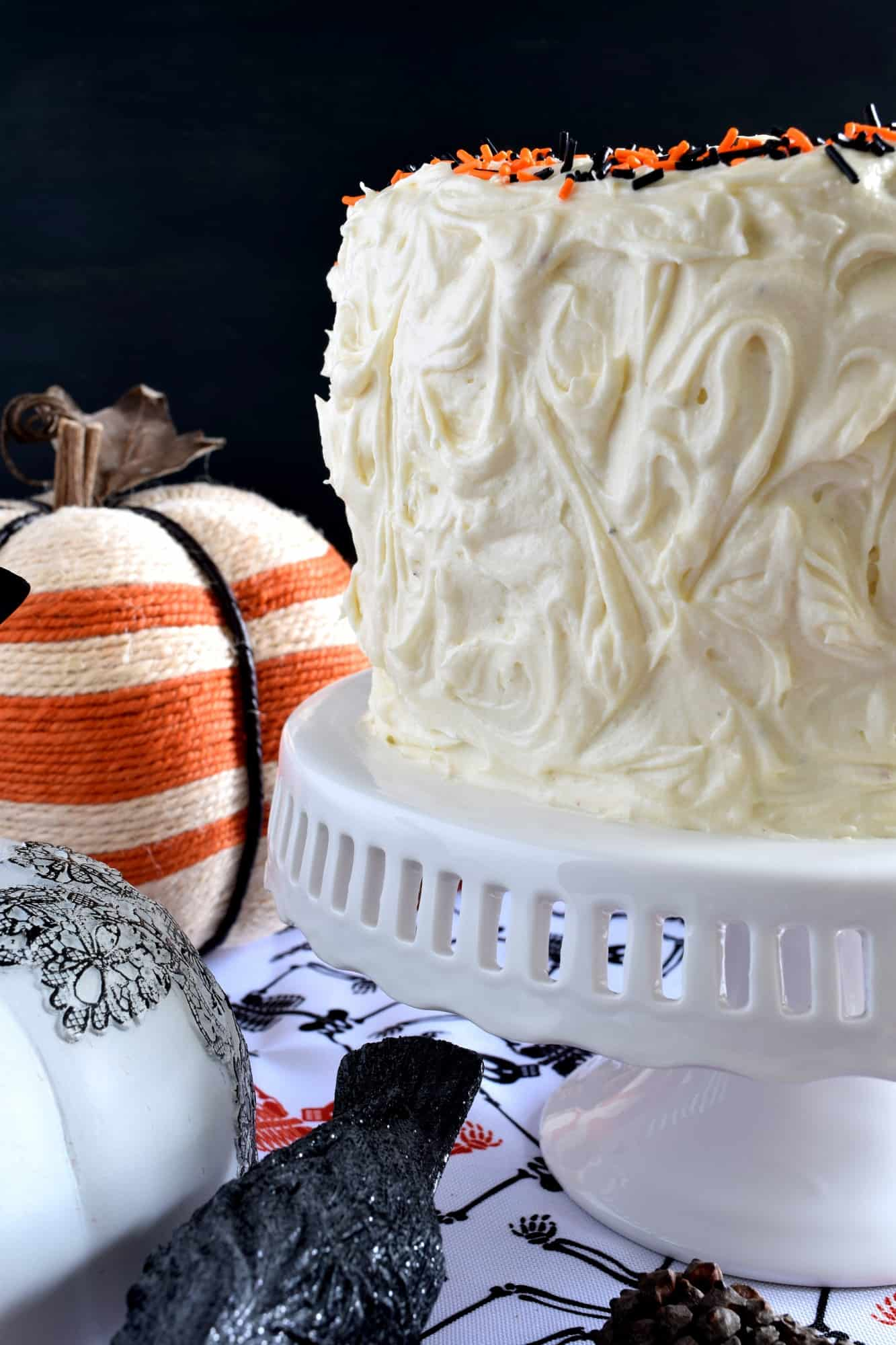 Halloween Pumpkin Cake with Cream Cheese Frosting - Lord Byron's ...