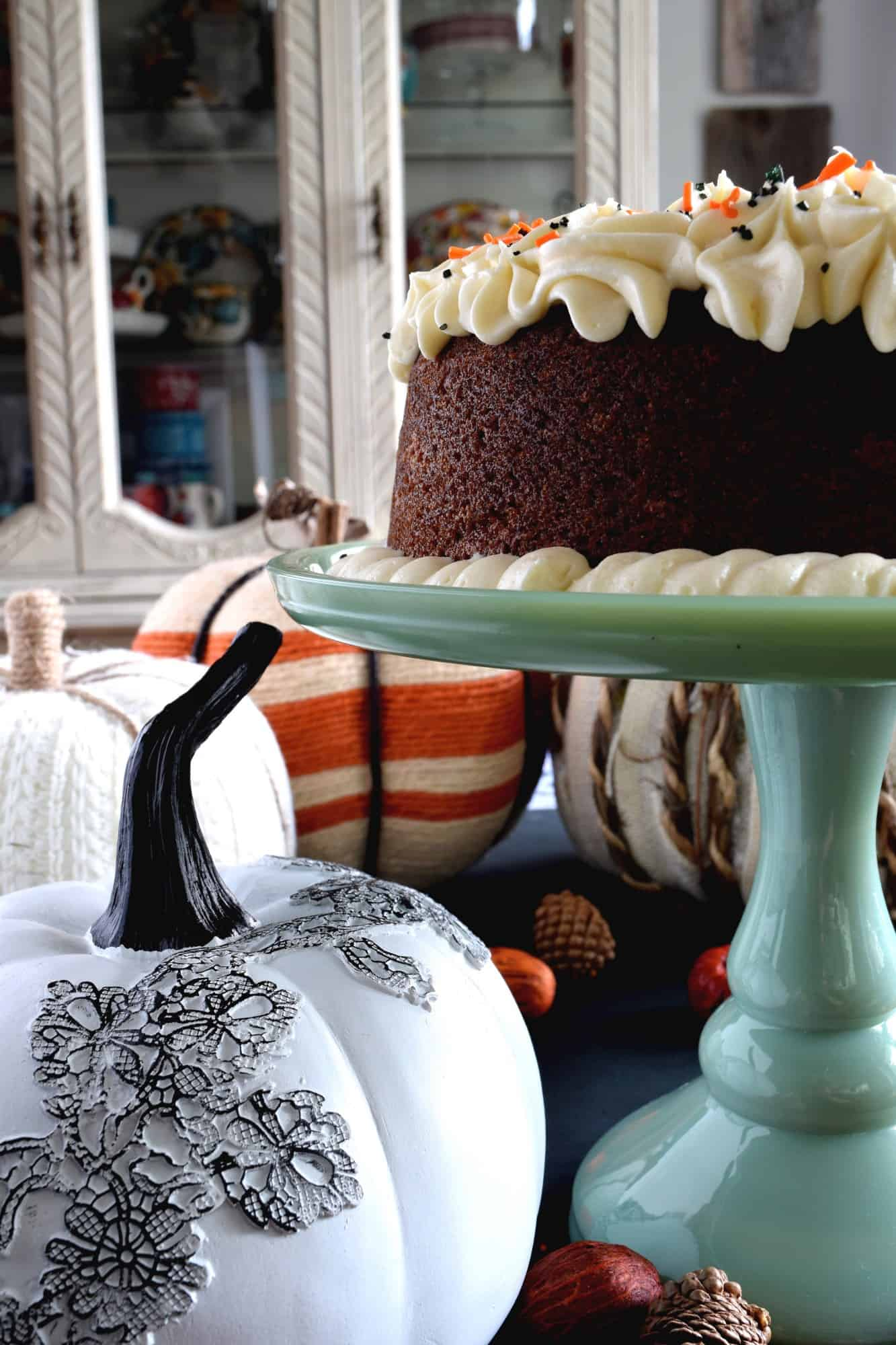 Frosted Pumpkin Puree Bundt Cake - Lord Byron's Kitchen