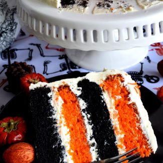 Halloween Pumpkin Cake With Cream Cheese Frosting