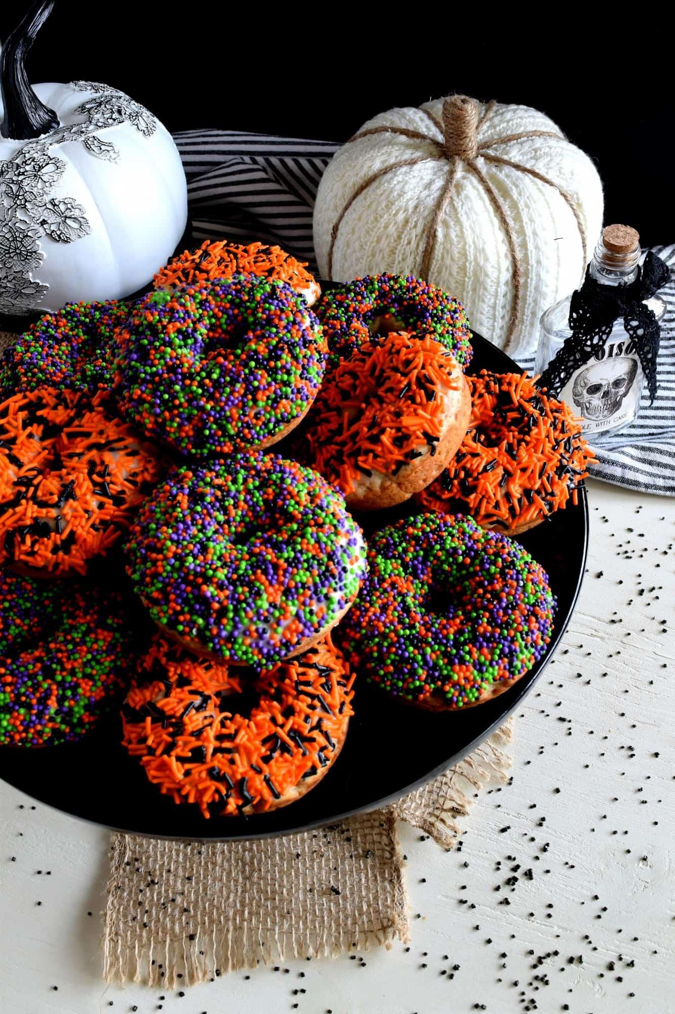 Pumpkin Spice Sour Cream Donuts
