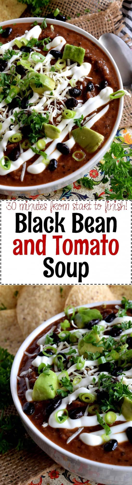 30 Minute Black Bean and Tomato Soup - Lord Byron's Kitchen