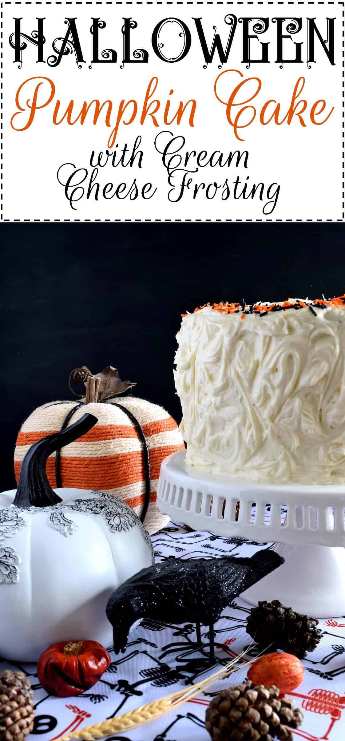 whats halloween without black and orange this cake although simple to make looks super impressive halloween pumpkin cake with cream cheese frosting