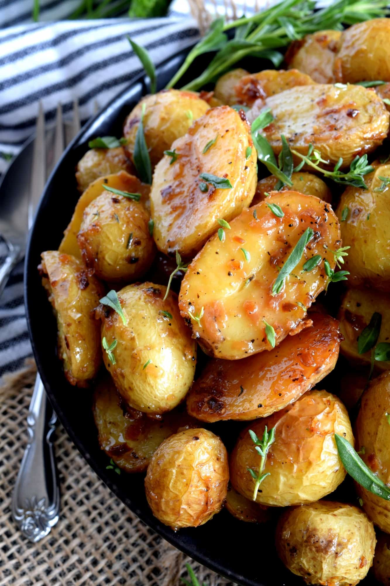 Roasted Potatoes With Herbs And Crunchy Onions
