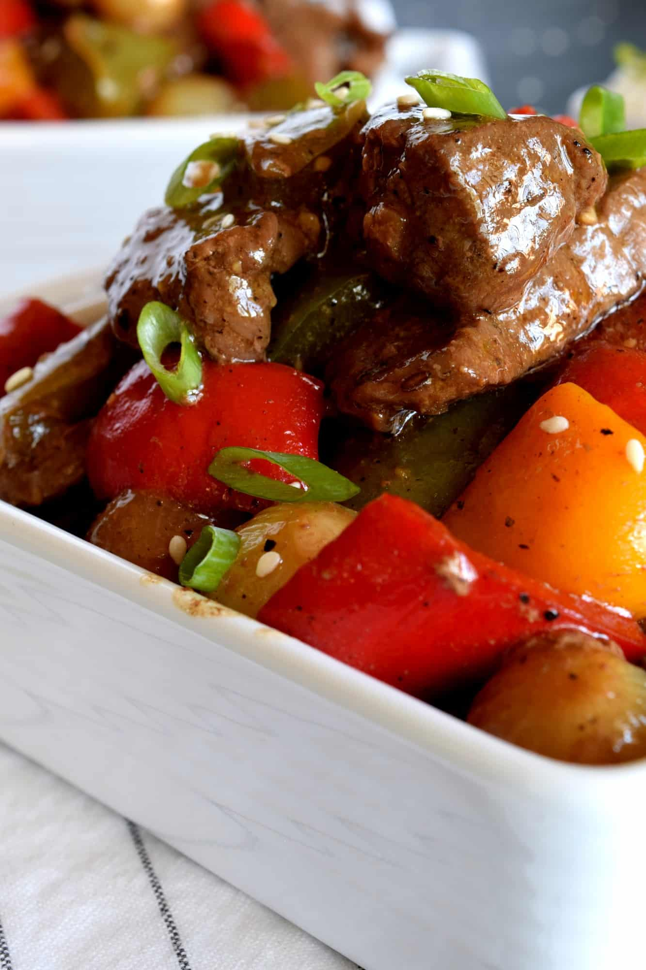 Pepper Steak With Pearl Onions