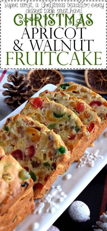 Christmas Fruit Cake.Christmas Apricot And Walnut Fruitcake
