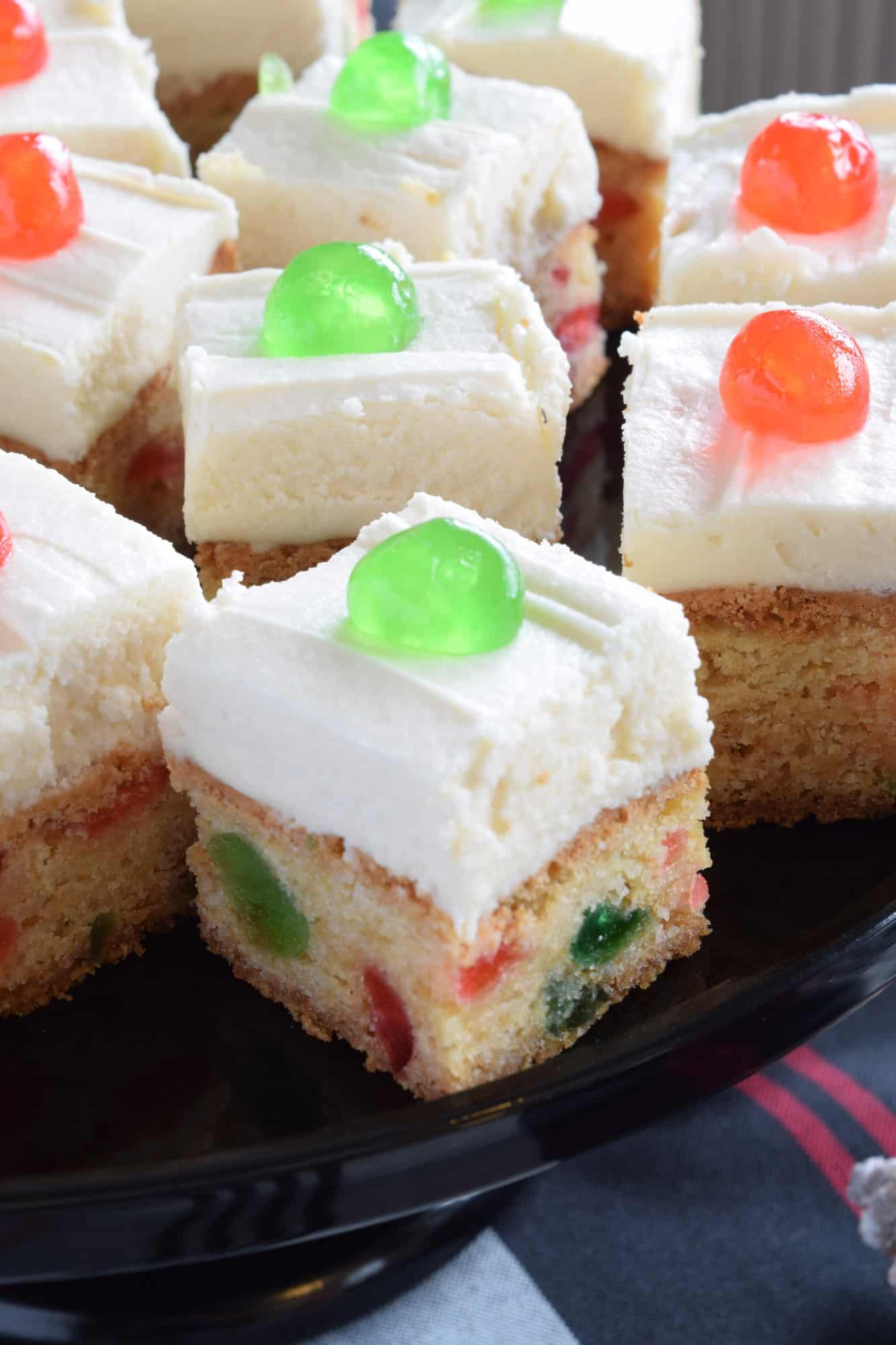 Cherry Cake Squares With Buttercream Frosting Lord Byron