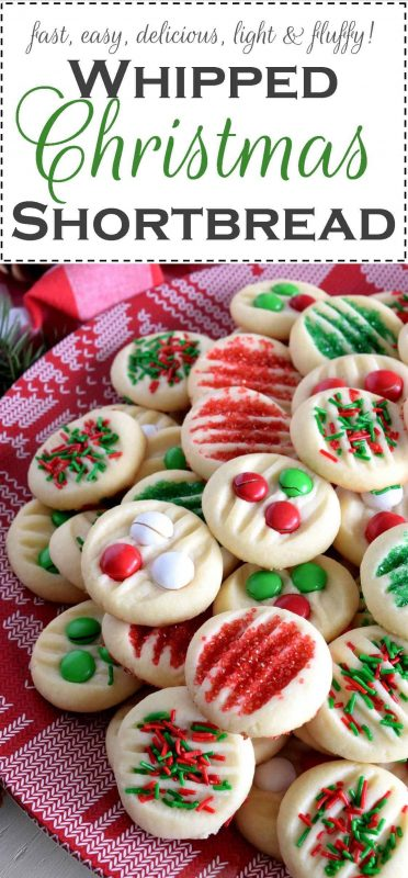Shortbread Cookies Christmas.Whipped Christmas Shortbread
