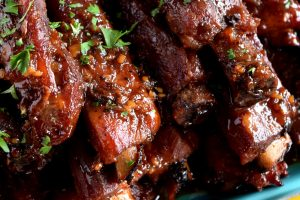 Copycat Chinese Restaurant Dry Garlic Ribs