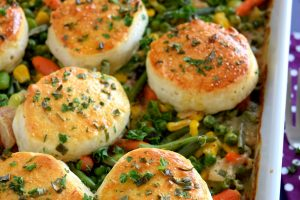 Leftover Turkey Casserole With Biscuits