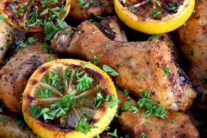 Roasted Lemon Garlic Chicken