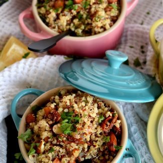 Sun Dried Tomato And Almond Quinoa Salad