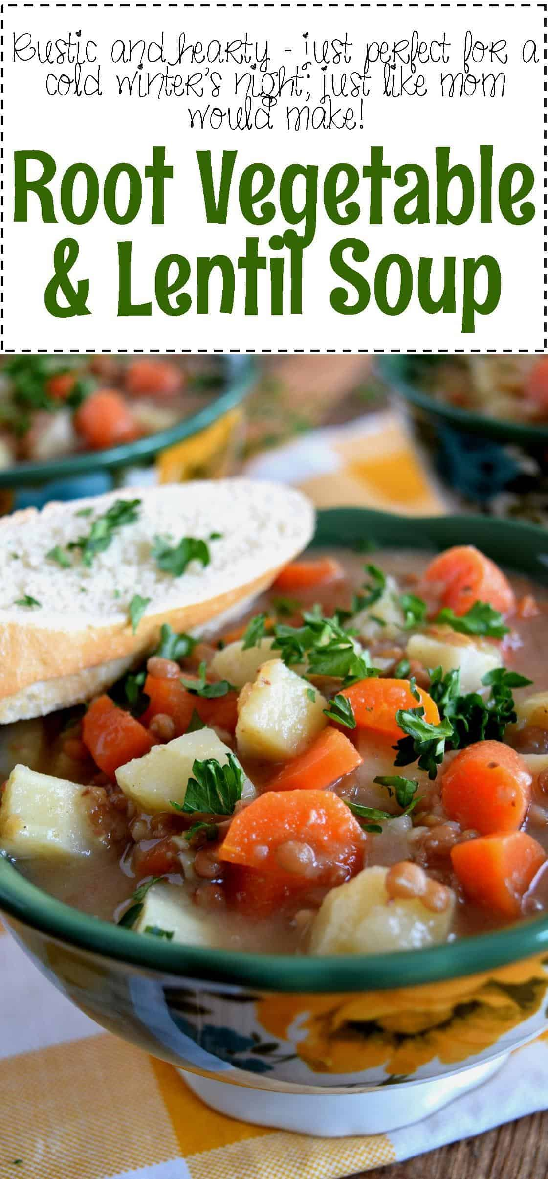 Root Vegetable and Lentil Soup - Lord Byron's Kitchen