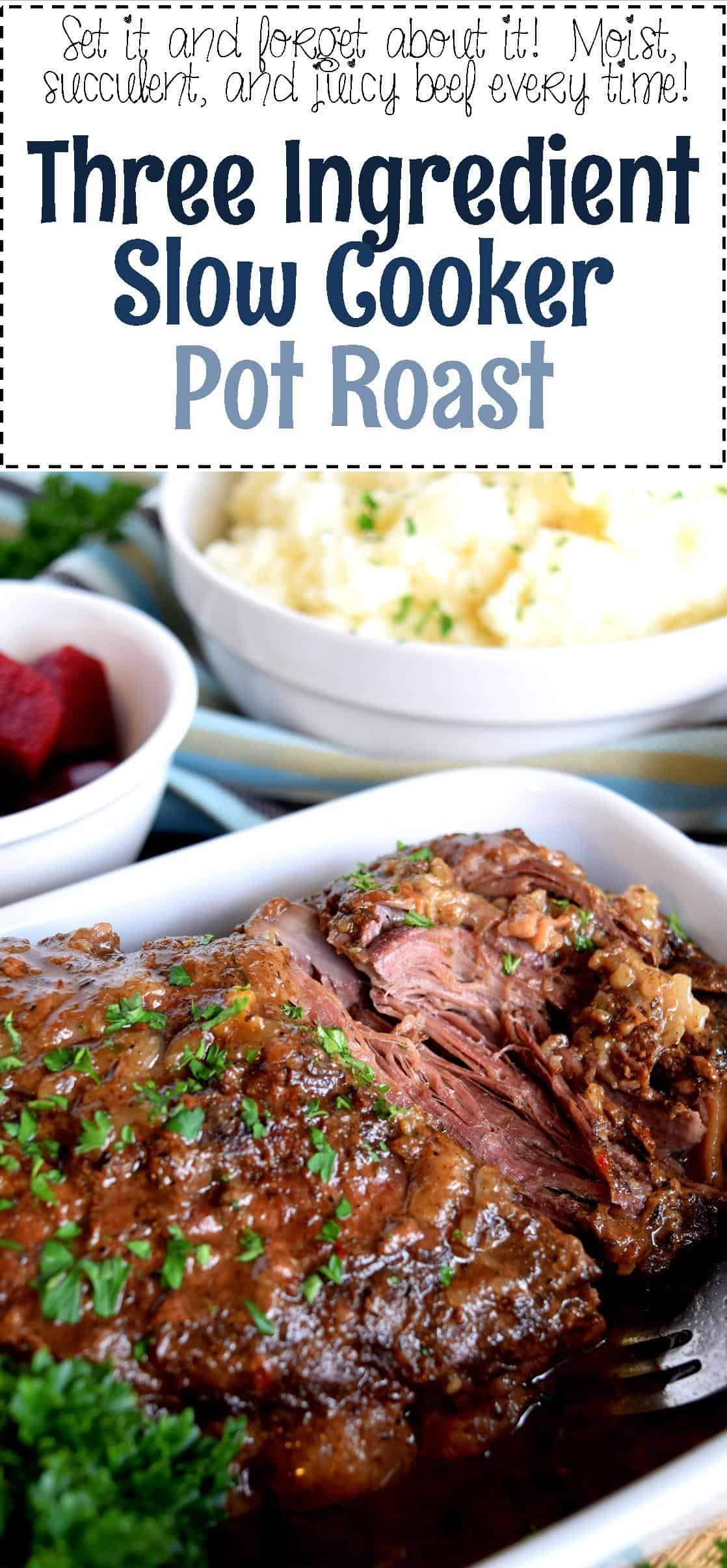 Three ingredient slow cooker pot roast lord byron 39 s kitchen for Hamilton beach pioneer woman slow cooker