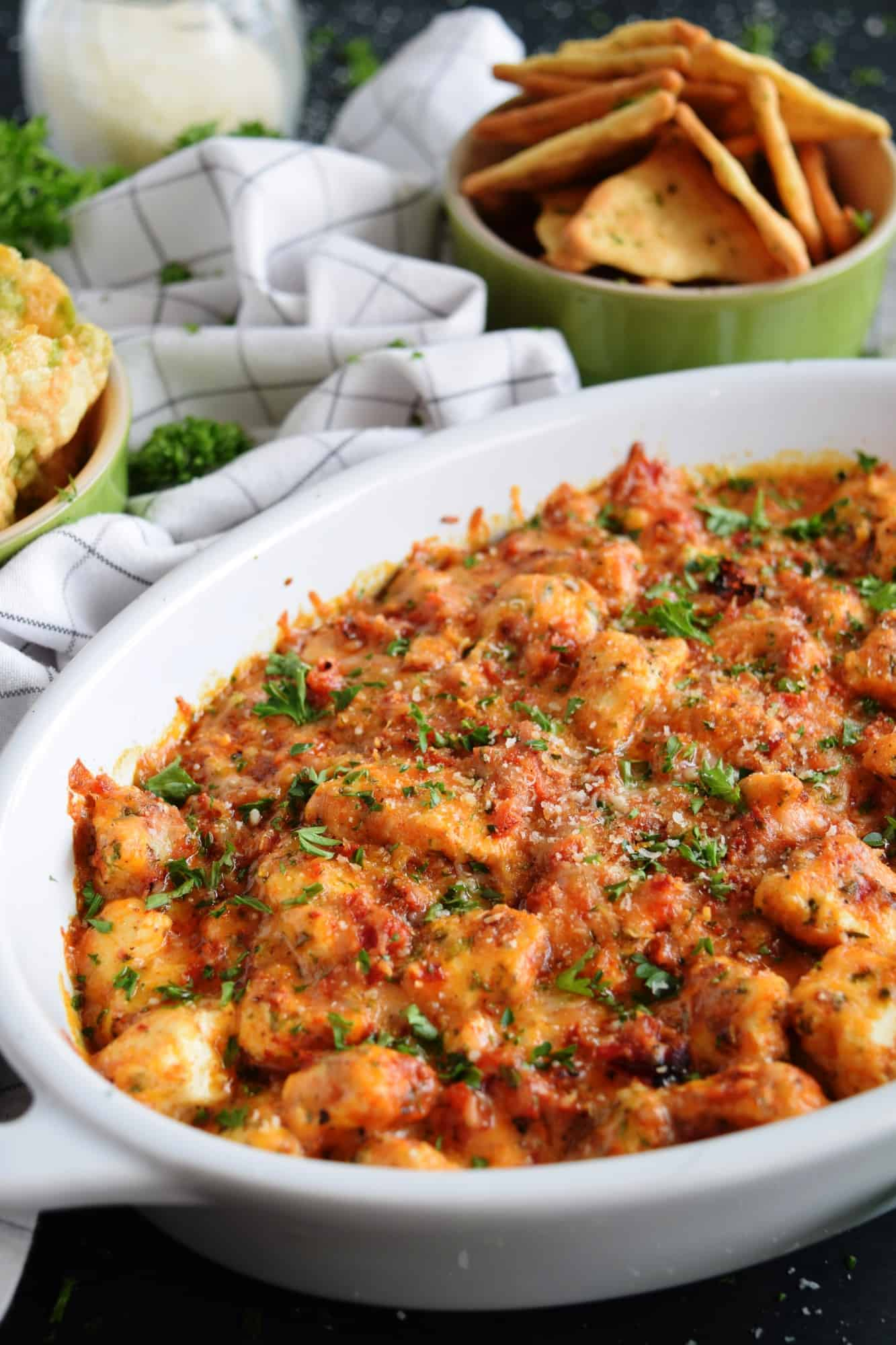 Hot Four Cheese Roasted Red Pepper Dip