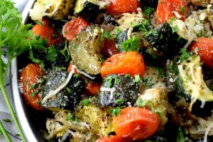 Italian Roasted Zucchini And Tomatoes