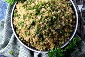 Green Pea And Parmesan Quinoa