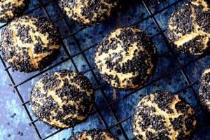 Black Sesame Citrus Cookies