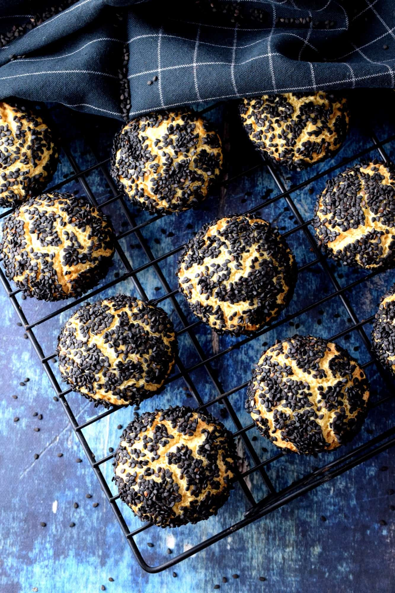 Black Sesame Citrus Cookies