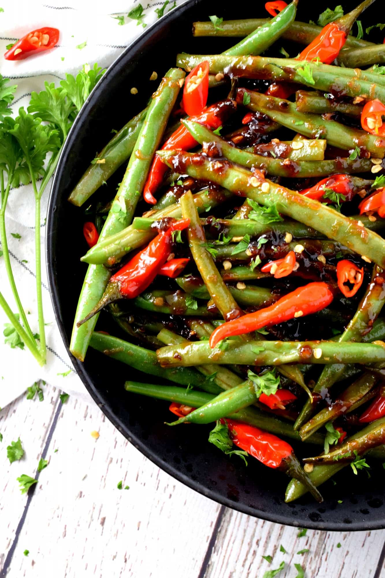 Hot And Spicy Szechuan Green Beans