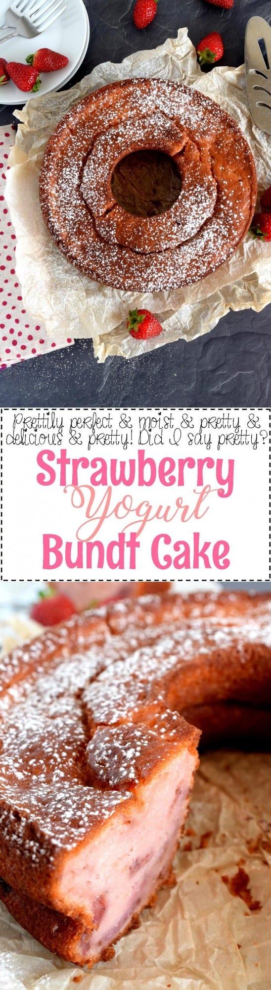 Pinterest Strawberry Yogurt Bundt Cake