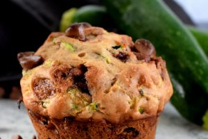 Zucchini Banana Chocolate Chip Muffins