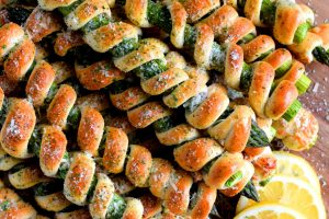 Wrapped Asparagus Spears With Garlic Butter And Parmesan