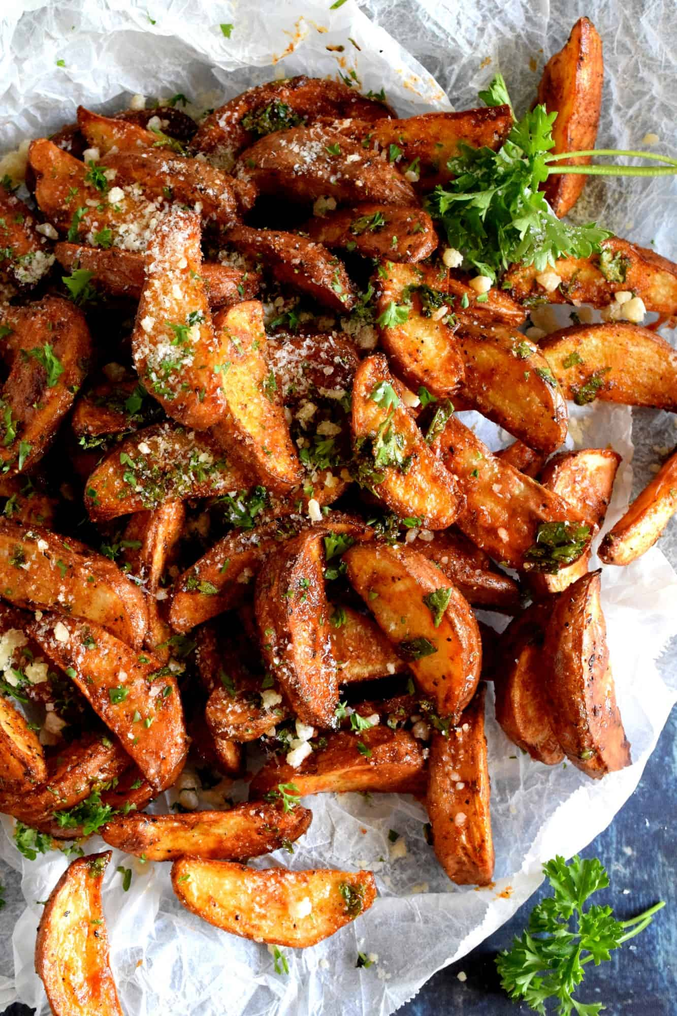 Paprika And Parmesan Potato Wedges