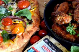 Grilled Veggie Pizza With A Cheese Filled Crust