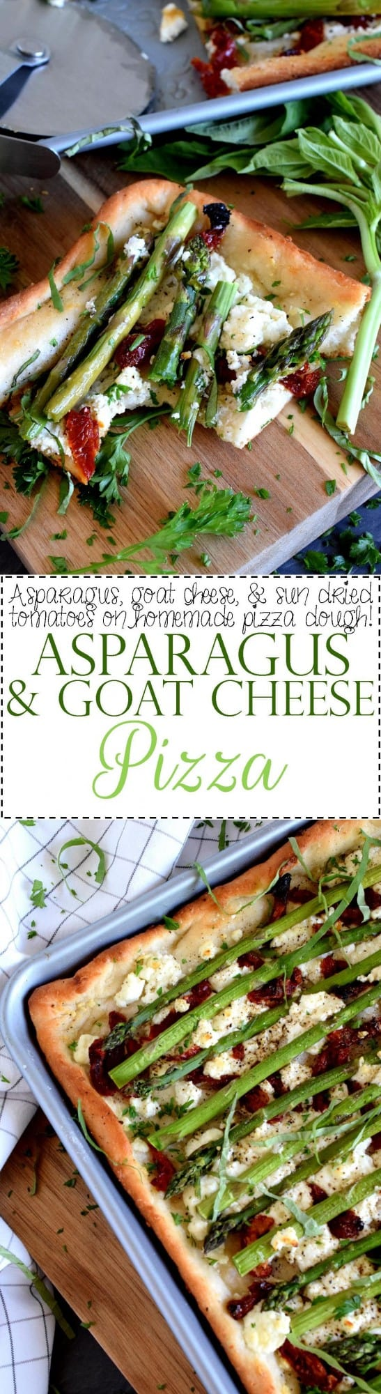 Asparagus and Goat Cheese Pizza - Lord Byron's Kitchen