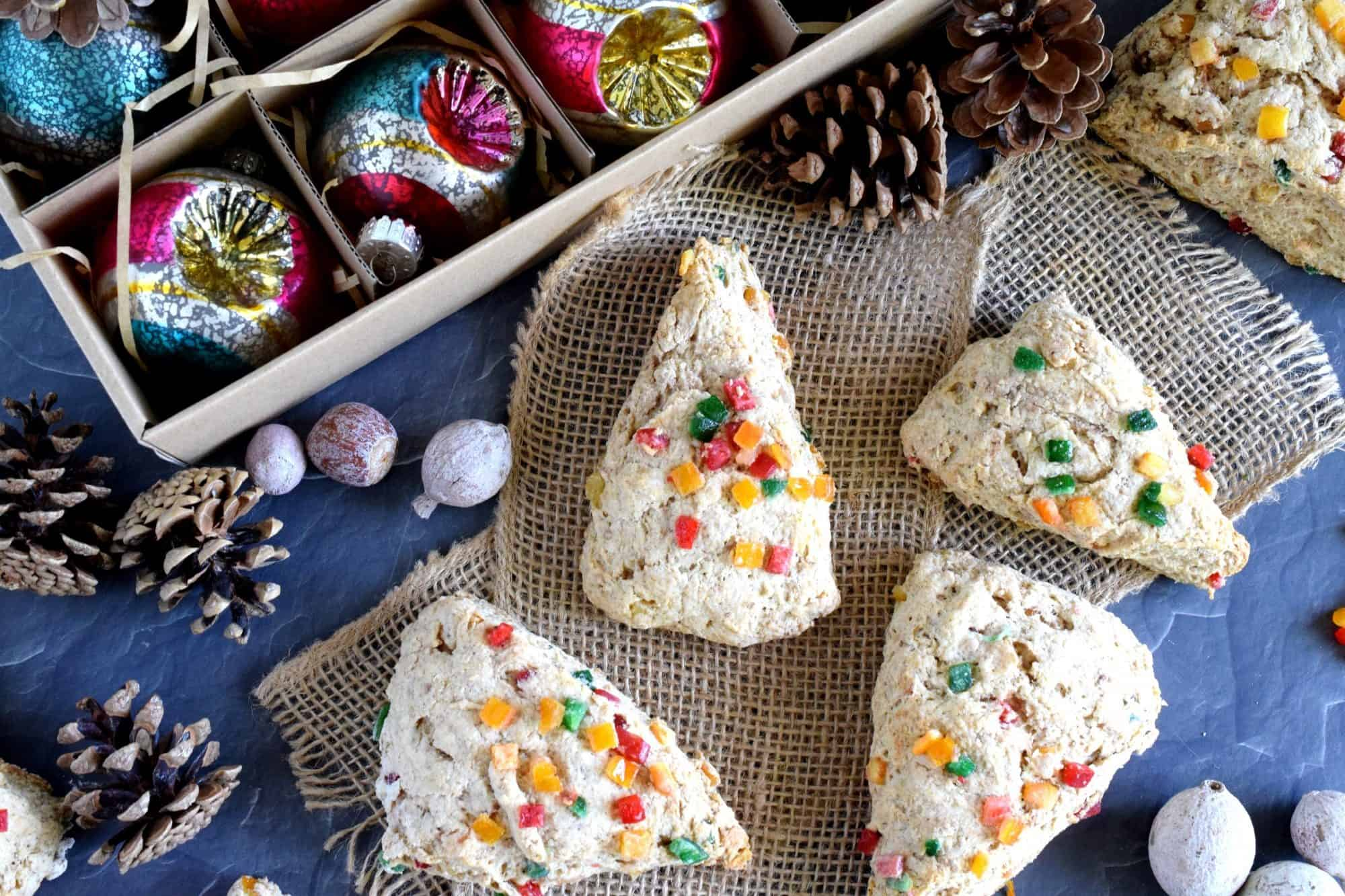 Christmas in July Breakfast Scones - Lord Byron's Kitchen