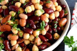 5 Minute Bean And Chickpea Salad