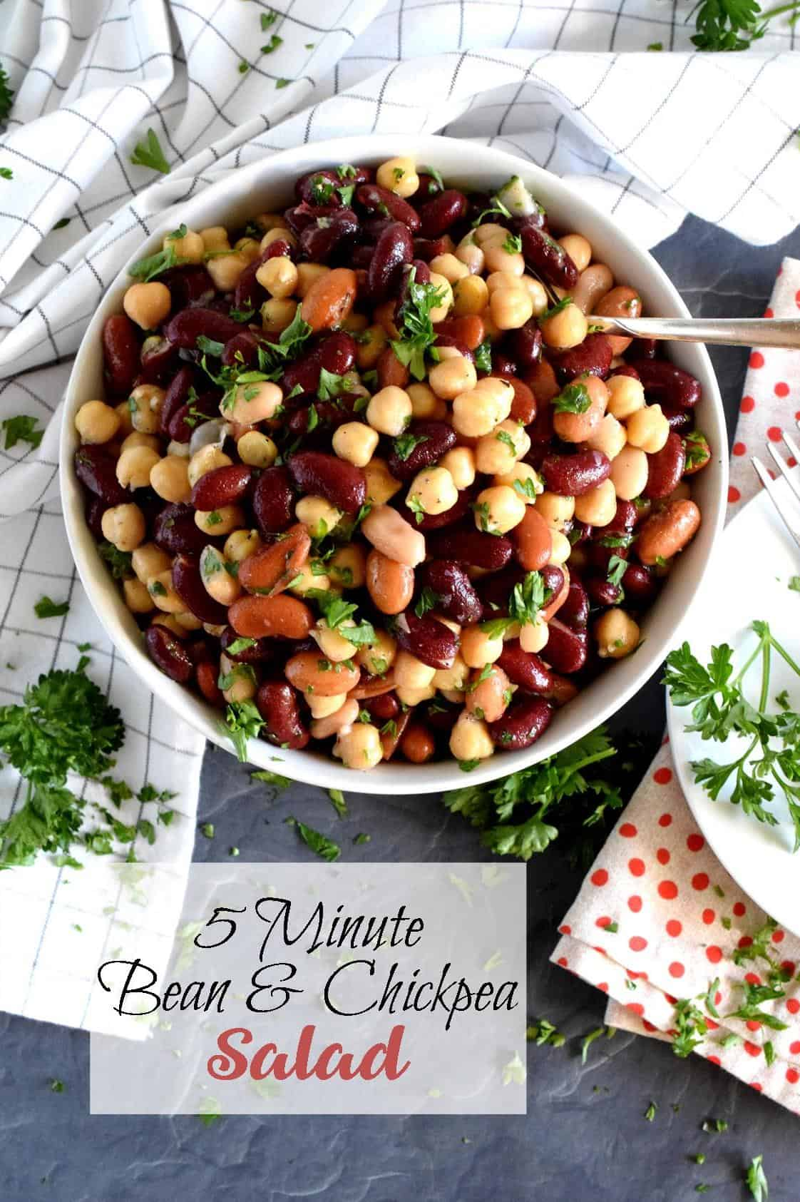 5 Minute Bean And Chickpea Salad Lord Byron S Kitchen