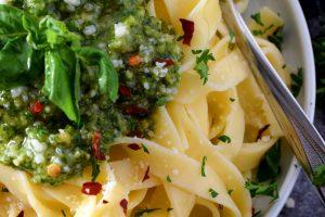 Peppery Double Parmesan Basil Pesto