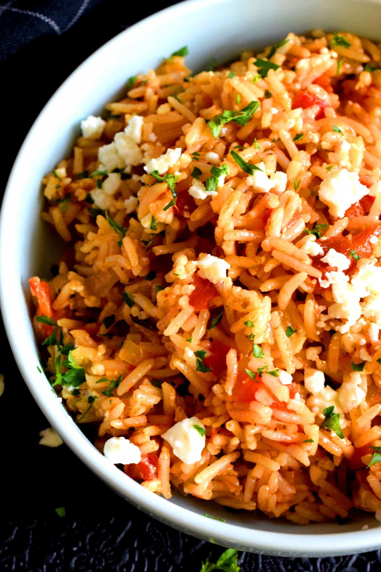Cheesy Roasted Red Pepper Rice