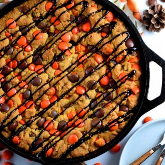 Halloween Chocolate Skillet Cookie