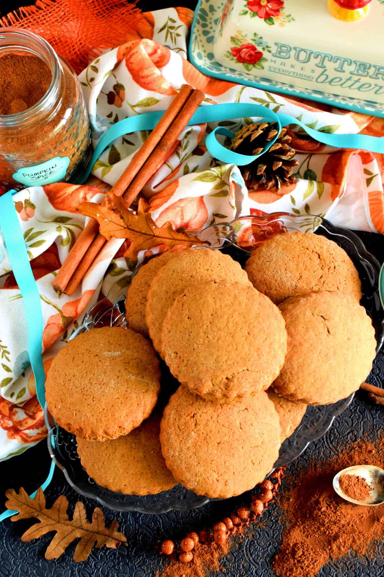 Pumpkin Spice Molasses Tea Biscuits