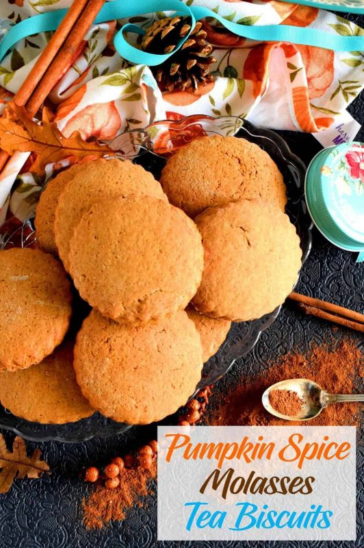 Pumpkin Spice Molasses Tea Biscuits - Lord Byron's Kitchen