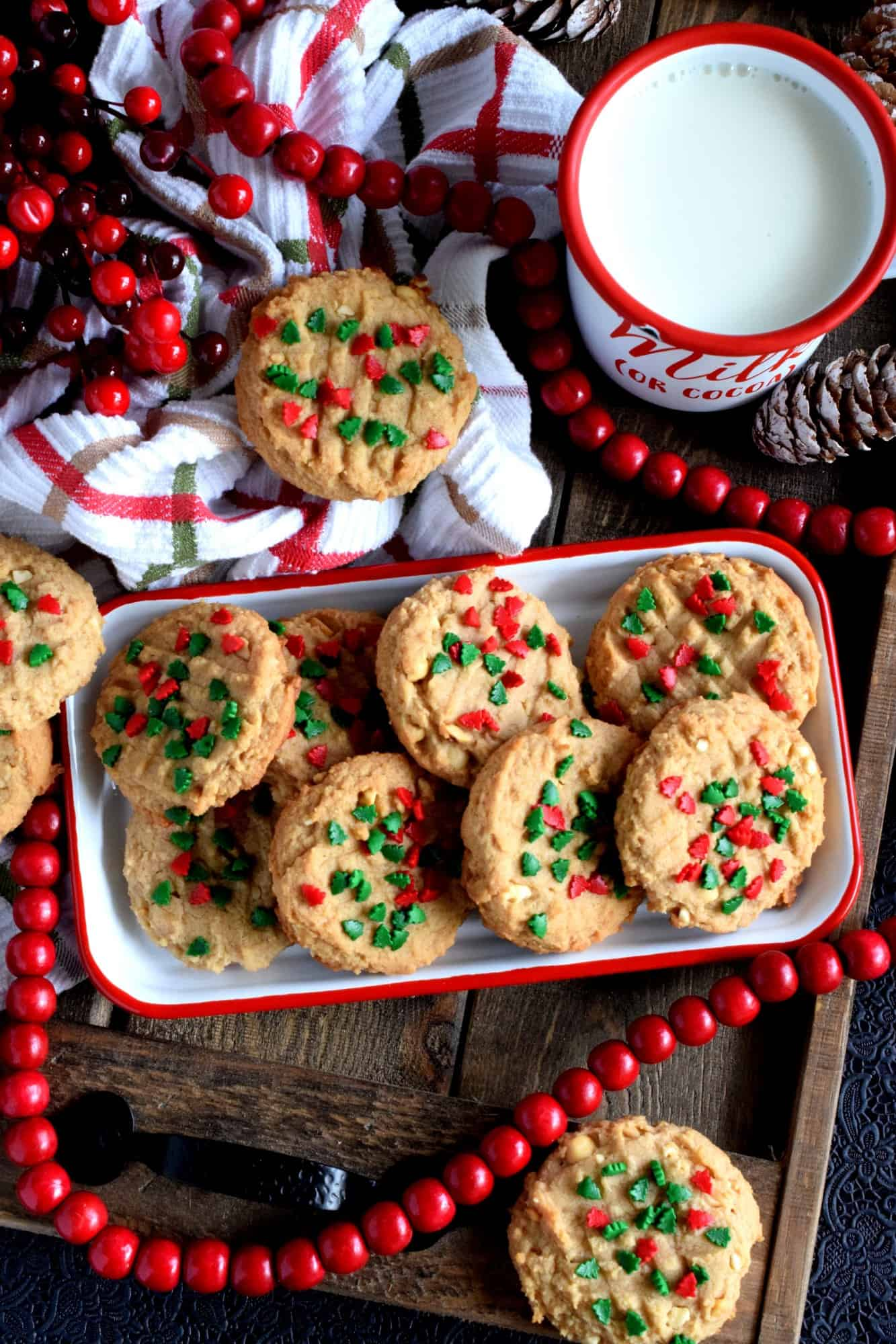 Holiday Cream Cheese Peanut Butter Cookies