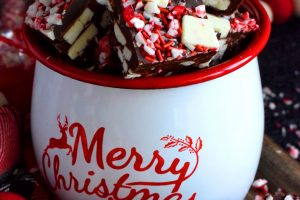 Peppermint Chunk Fudge