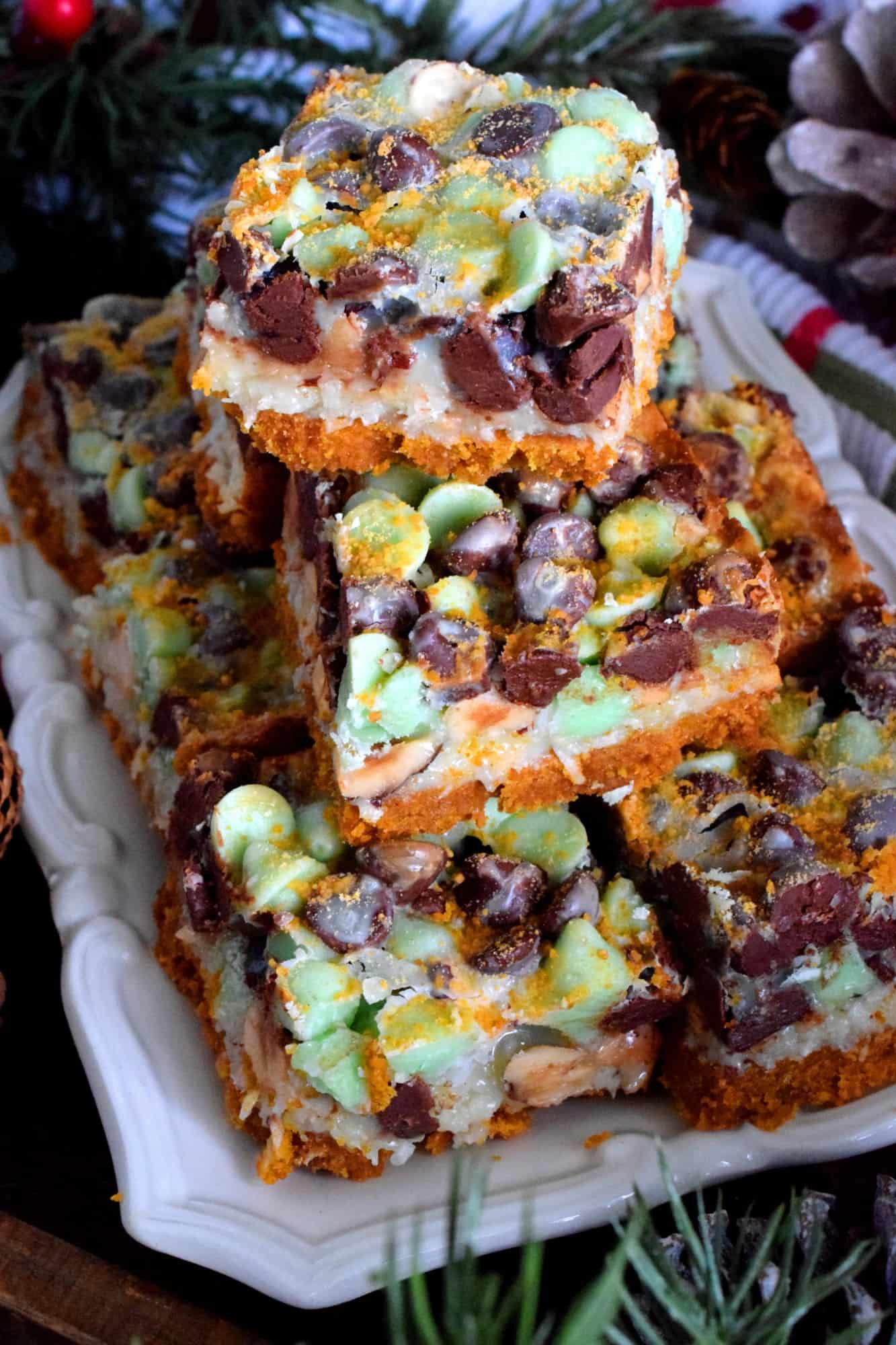 Dark Chocolate And Mint Chip Squares