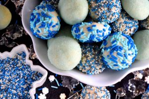 Blue Christmas Butter Cookies
