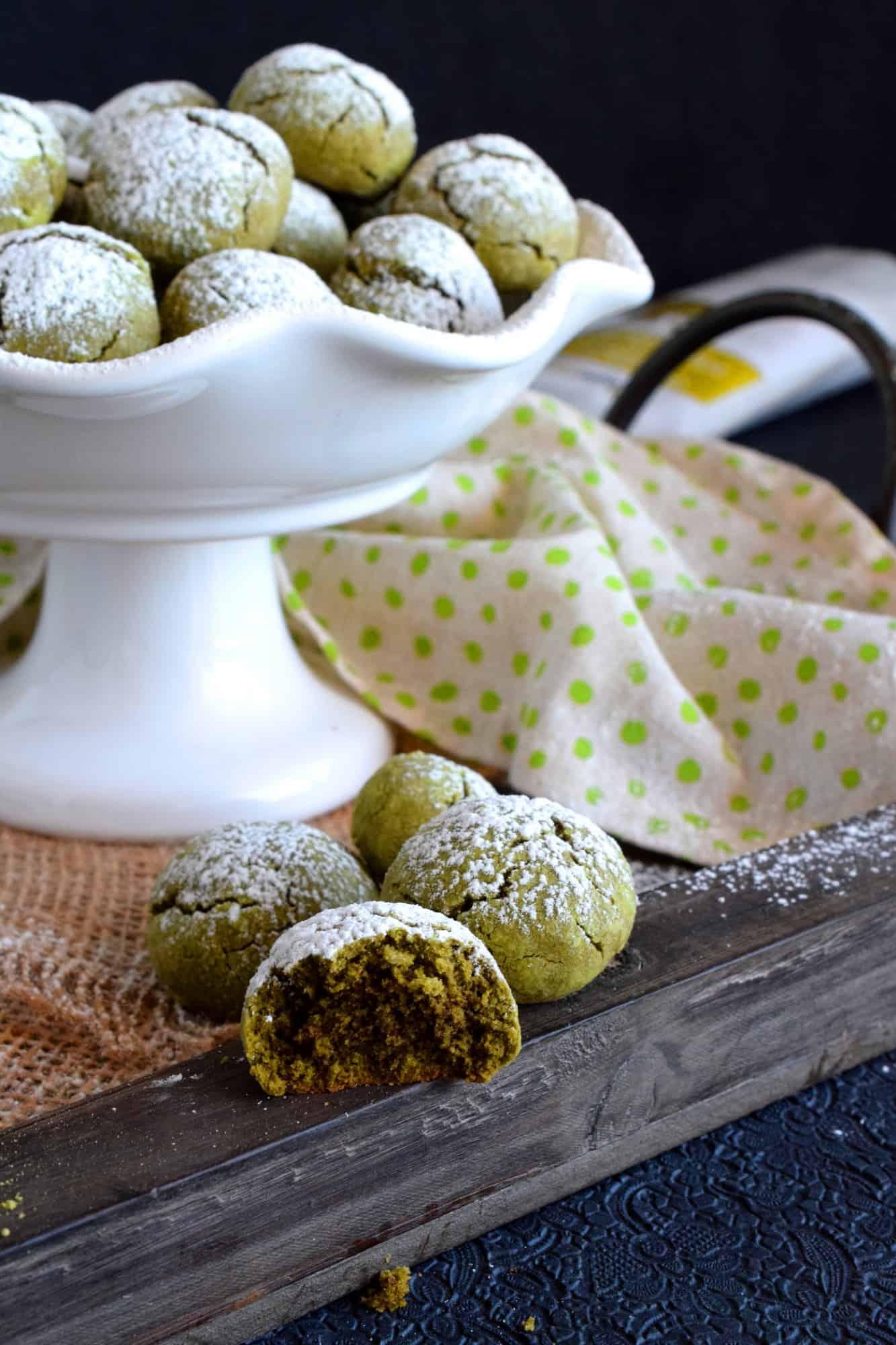 Matcha Green Tea Snowballs