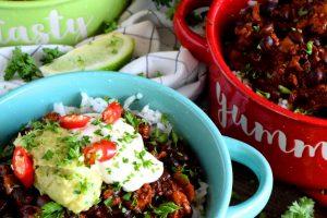 Chorizo And Black Bean Chili Bowls