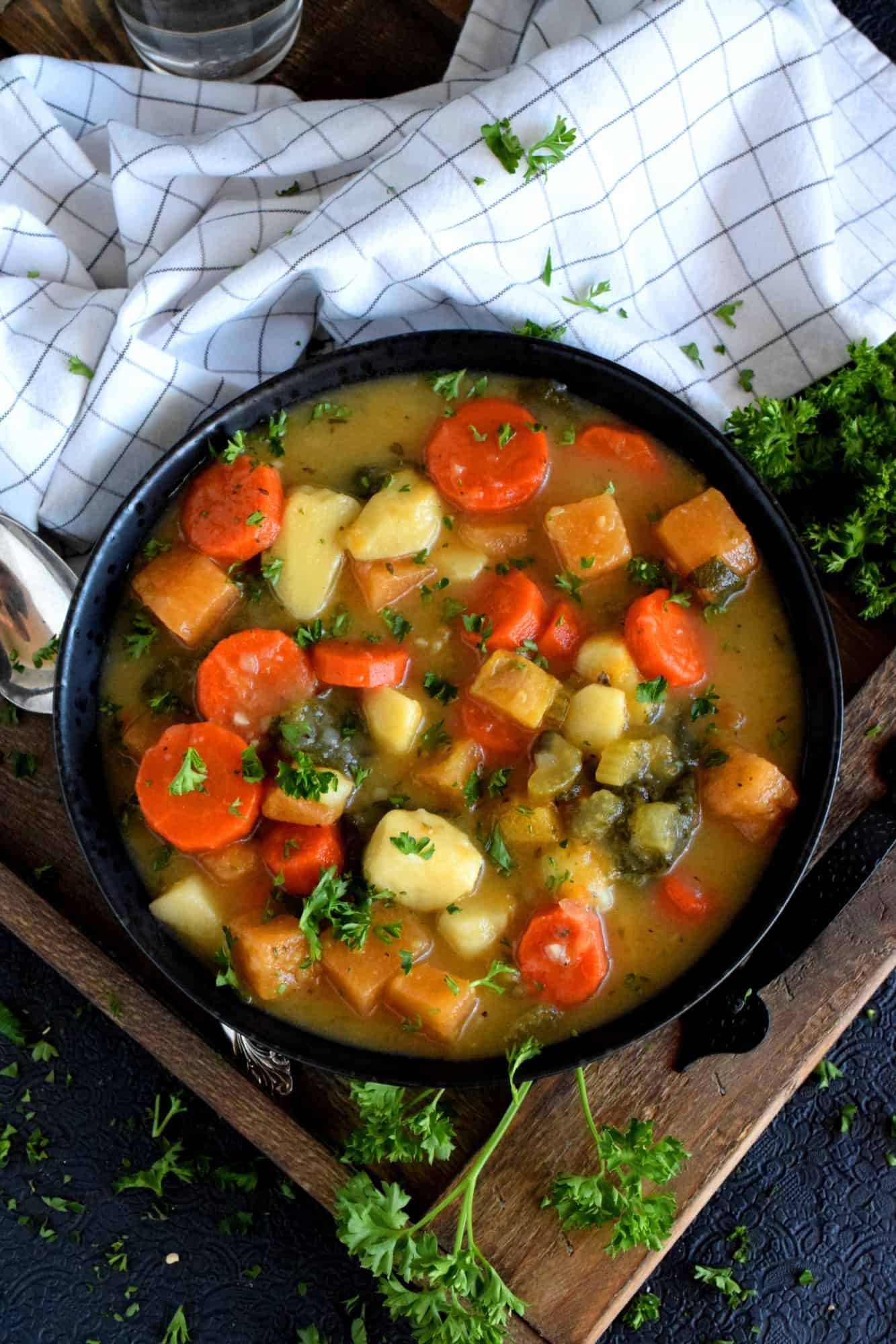 Chunky Vegetable And Spinach Soup Lord Byron S Kitchen